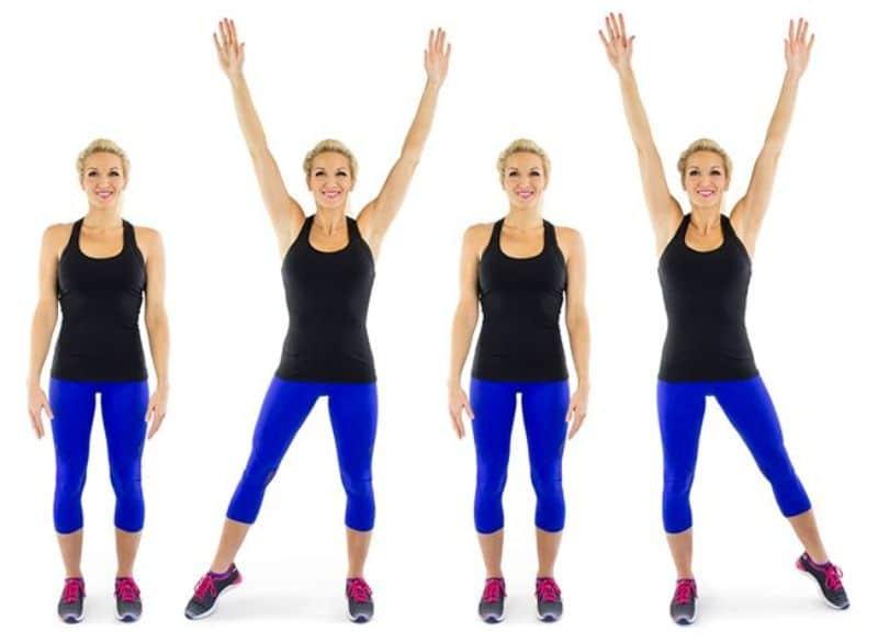 Step jack – Bài thể dục aerobic giật bụng giảm béo