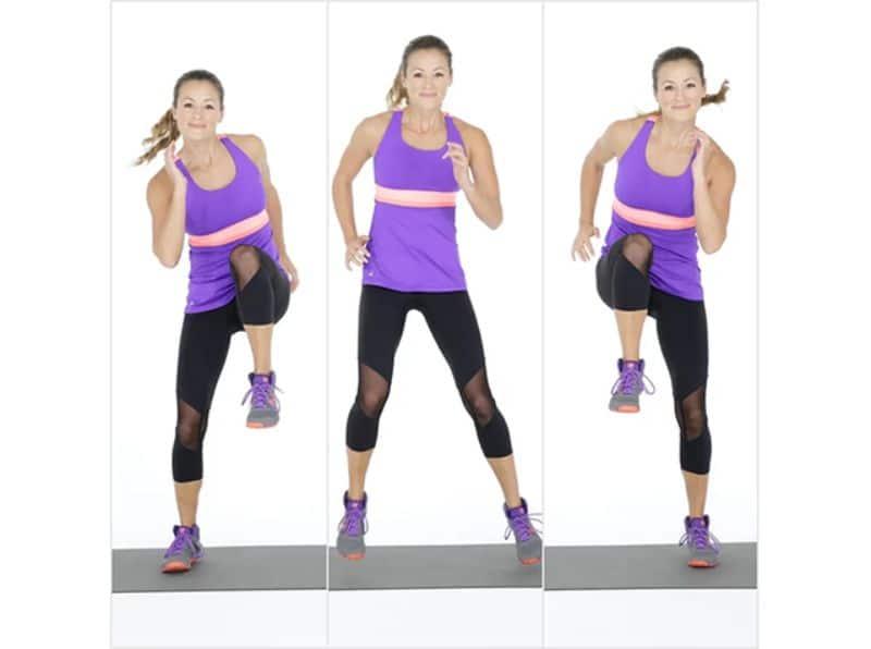 Nhảy sang hai bên là bài tập aerobic giật bụng ở mức độ trung bình