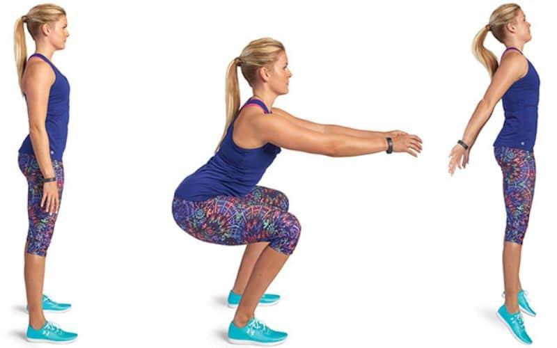 Squat Jacks - Bài tập aerobic tổng hợp cải thiện phần dưới