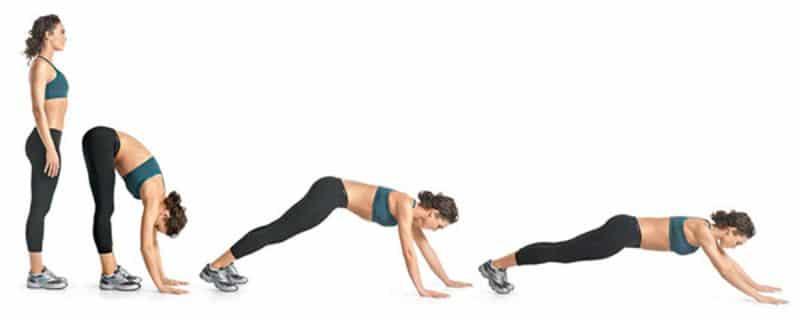 Inchworm - Bài tập aerobic giảm mỡ bụng nhanh chóng