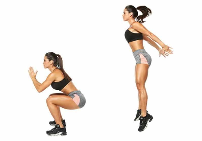 Bài tập giảm eo và đùi cấp tốc (Squat Jump)