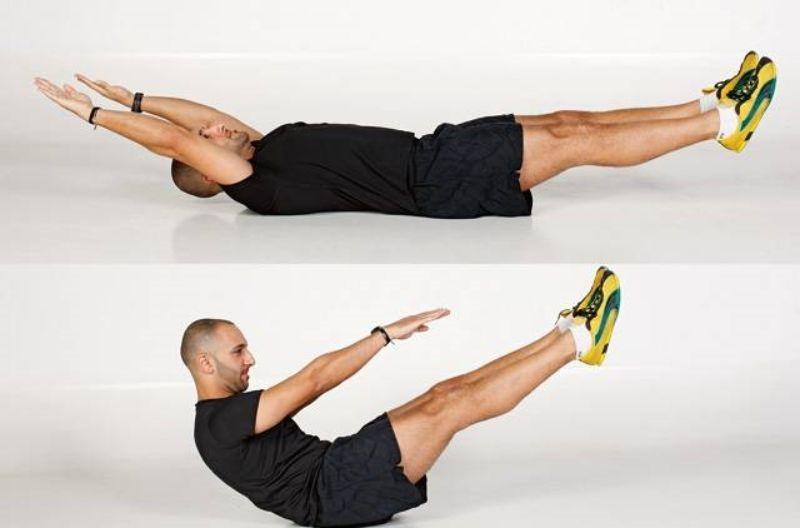 Tập thể dục tan mỡ bụng siêu nhanh (Gập bụng chữ V)