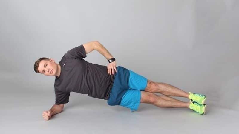 Bài tập thể dục giảm cân toàn thân (Plank một bên)