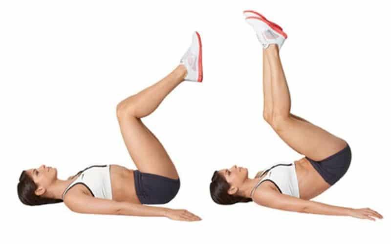 Bài tập thể dục giảm mỡ bụng dưới (Gập bụng ngược)