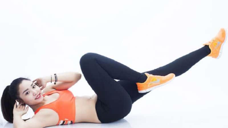 Bài tập eo thon bụng phẳng nhanh nhất (Gập bụng xe đạp)