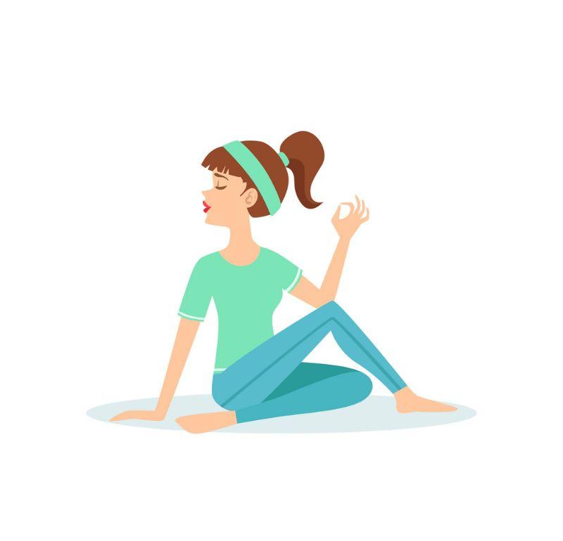 Bài tập yoga xoay nửa vòng cầu làm giảm các cơn đau ở các đốt sống cổ