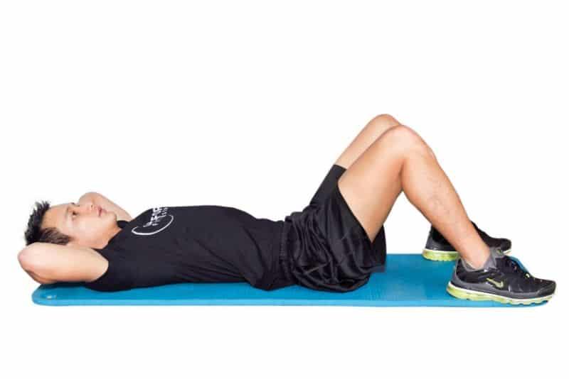 Gập bụng trên - Bài tập giảm mỡ bụng cho nam nhanh nhất