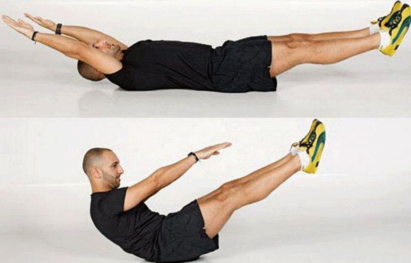 Bài tập giảm mỡ bụng cho nam – Gập bụng toàn thân