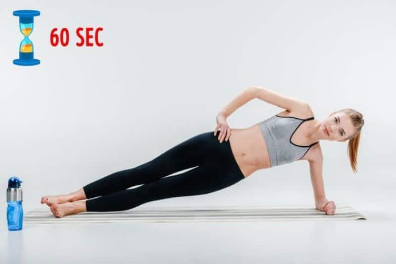 Bài tập Plank cẳng tay nâng chân làm săn cơ đùi ngoài