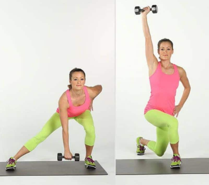 Bài tập nhún bên chéo chân làm giảm mỡ đùi cực nhanh