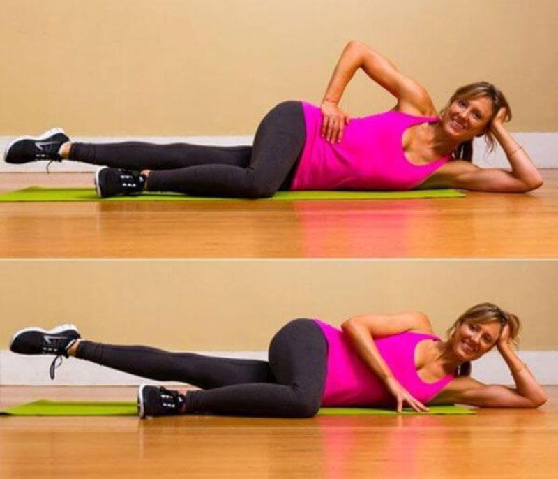 Bài tập Pilates nâng chân