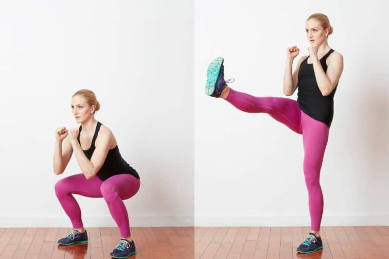 Front Kicks có tác dụng đốt cháy mỡ thừa cho cơ đùi trước và cơ đùi sau