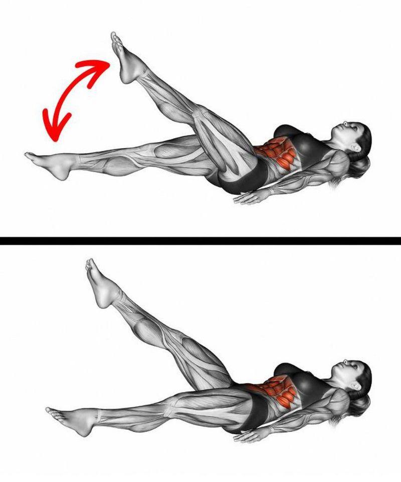 Bài tập này cũng mang đến hiệu quả giảm mỡ bụng tương tự như với bài tập nâng và hạ hai chân