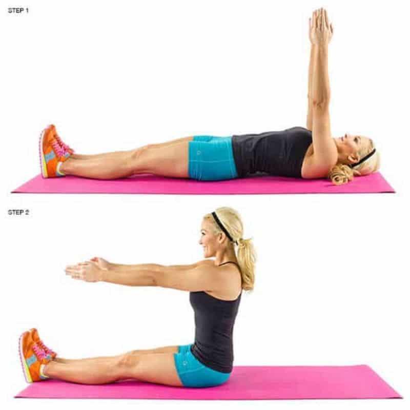 Gập bụng là bài tập gym cho nữ mới bắt đầu giúp loại bỏ mỡ thừa ở vòng hai nhanh chóng