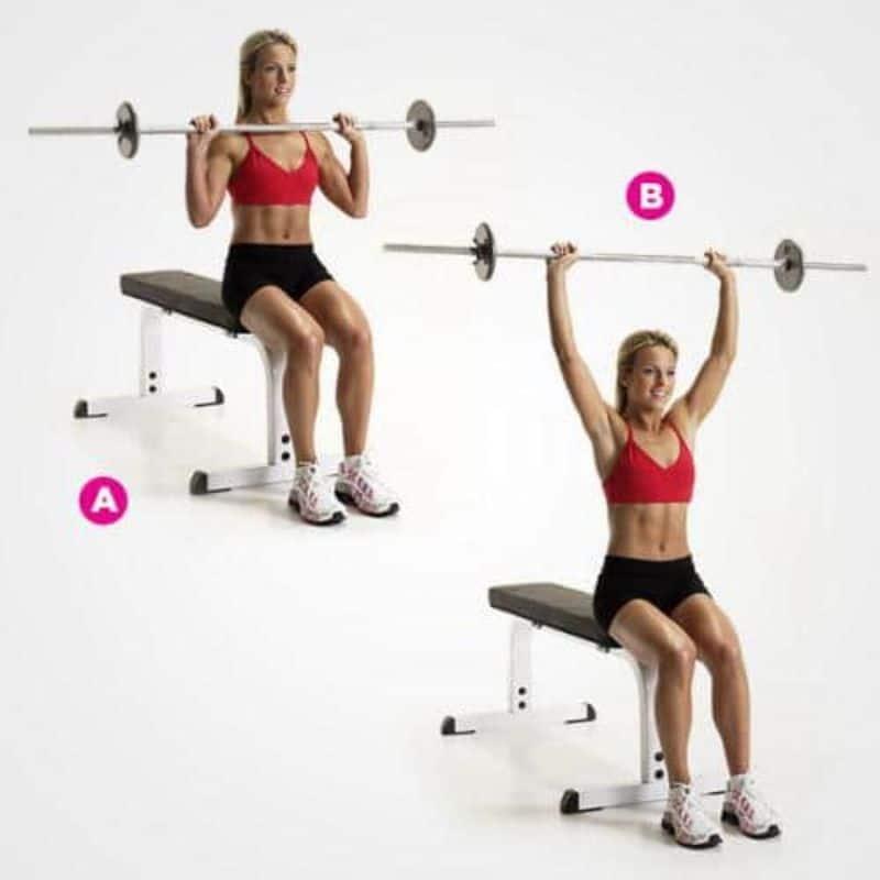 Bài tập cho vai sẽ giúp cho cơ cánh tay, bắp tay, cơ vai,... của chị em được tác động một cách mạnh mẽ