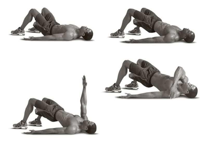 Nâng hông duỗi tay là bài tập thường được dân tập Gym áp dụng