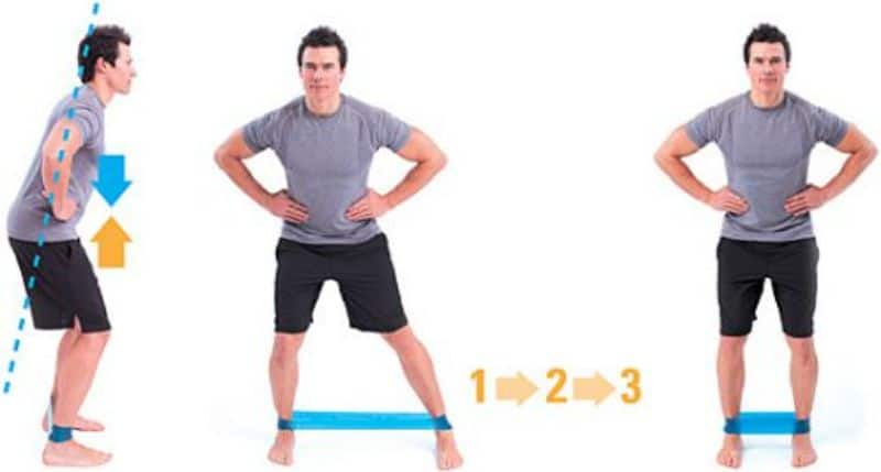 Bài tập Lateral mini-band walk là bài tập mông cho nam được đánh giá cao về hiệu quả
