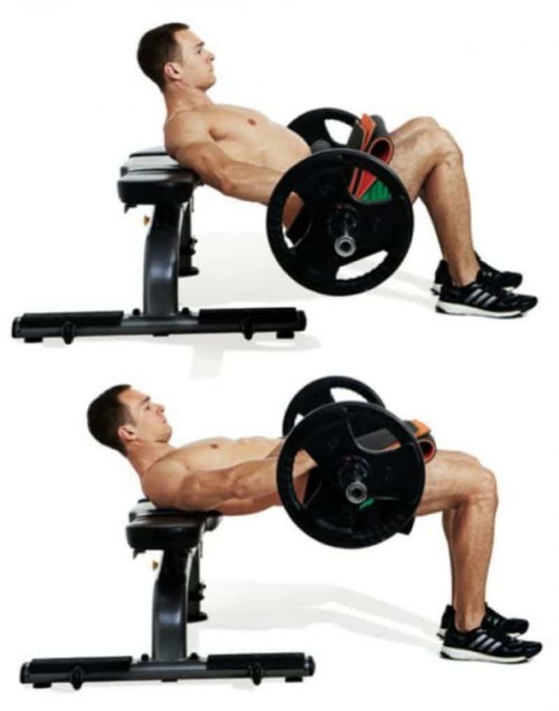 Hiệu quả của bài tập Hip Thrust sẽ được nâng cao hơn rất nhiều khi được kết hợp với tạ đòn