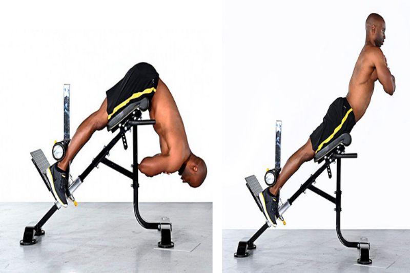 Hyperextensions là bài tập vốn được áp dụng để tập luyện cơ lưng dưới