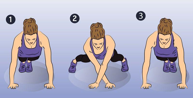 Đảm bảo giữ cho cơ thể luôn thẳng, hông thấp khi thực hiện plank di chuyển