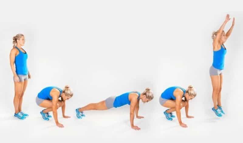 Bài tập thể dục giảm mỡ toàn thân Burpees