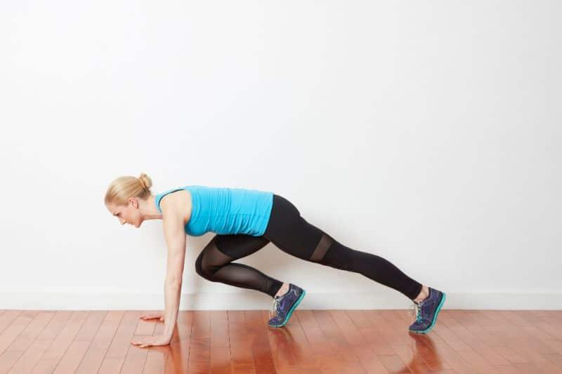 Bài tập thể dục giảm cân, mỡ bụng Mountain Climbers