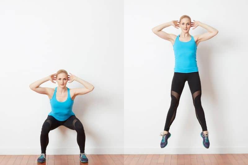Bài tập thể dục giảm mỡ hiệu quả nhất Squat Jumps