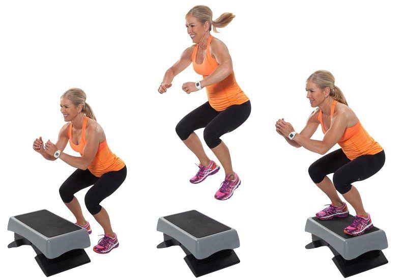 Bài tập thể dục giảm cân Jumping Jacks to the Step