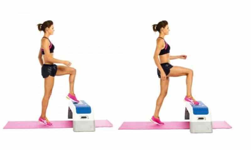 Bài tập 6: Bài tập thể dục giảm cân toàn thân Toe Taps with Jumps