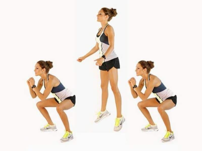 Đây là bài tập kết hợp hoàn hảo giữ những động tác của tư thế bật cao với squat