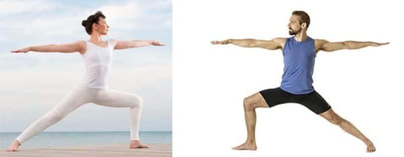 Tư thế chiến binh có thể kéo dài hông đùi, giảm tình trạng đau lưng