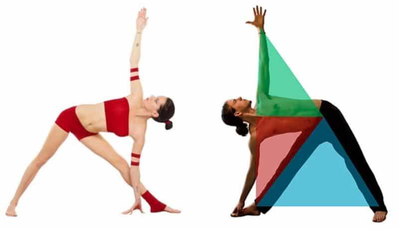 Tư thế tam giác là bài tập giúp tăng cường độ dẻo dai cho lưng, hông và đôi chân