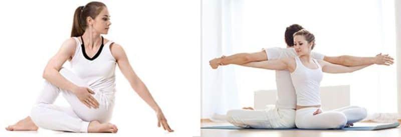 Ngồi xoay người là bài tập yoga cơ bản cho người mới bắt đầu