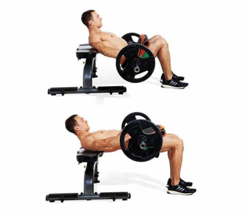 Bài tập đẩy tạ đơn trên hông tạo được sức ép lớn khiến cơ chân trở nên săn chắc hơn