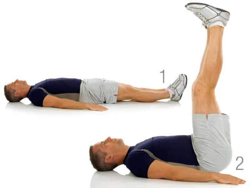 Leg Raise là bài tập giảm mỡ bụng cho nam hiệu quả