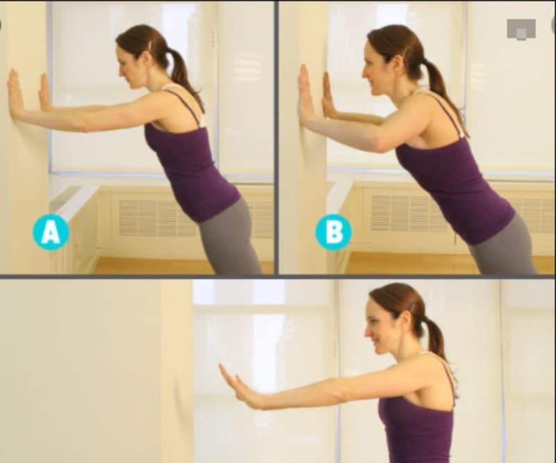 Luôn để thân thể có thẳng từ đầu đến chân khi thực hiện chống đẩy với tường