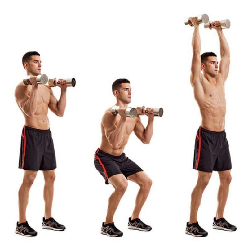 Bài tập đứng đẩy tạ đôi chủ yếu sử dụng đến nhóm cơ vai