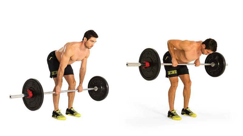 Gập người nâng tạ là một trong các bài tập gym cho nam thông dụng