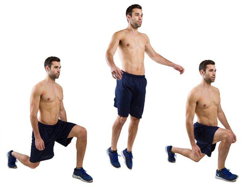 Bài tập Lunge Jump có khả năng đốt cháy mỡ thừa hiệu quả