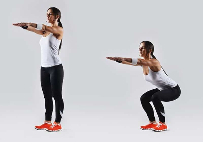 Bodyweight Squat là một trong những bài tập cơ bản và không cần phải có dụng cụ hỗ trợ