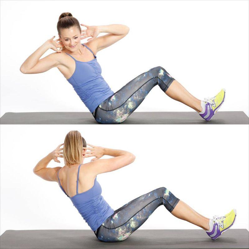Vặn hông cũng là bài tập giảm mỡ bụng rất tốt