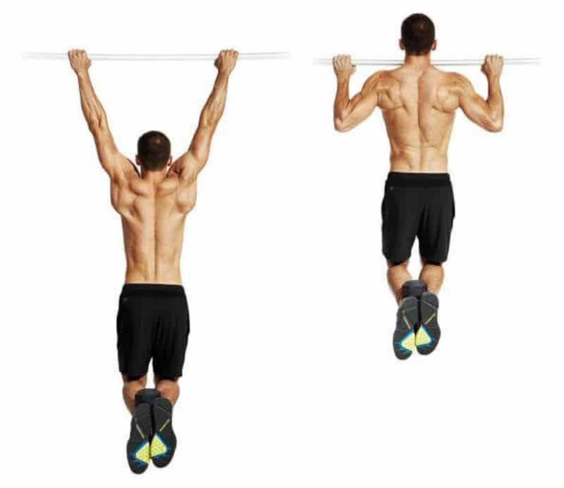 Lên xà cũng là bài tập giúp tác động mạnh mẽ lên toàn bộ cơ xô