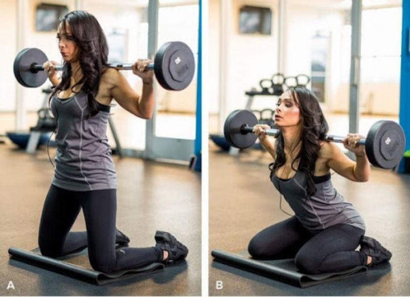 Kneeling Squats cũng là một trong những bài tập squat cơ bản cho mông