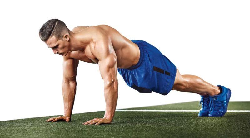 Plank tay - Bài tập giúp giảm cân nhanh chóng tay sau
