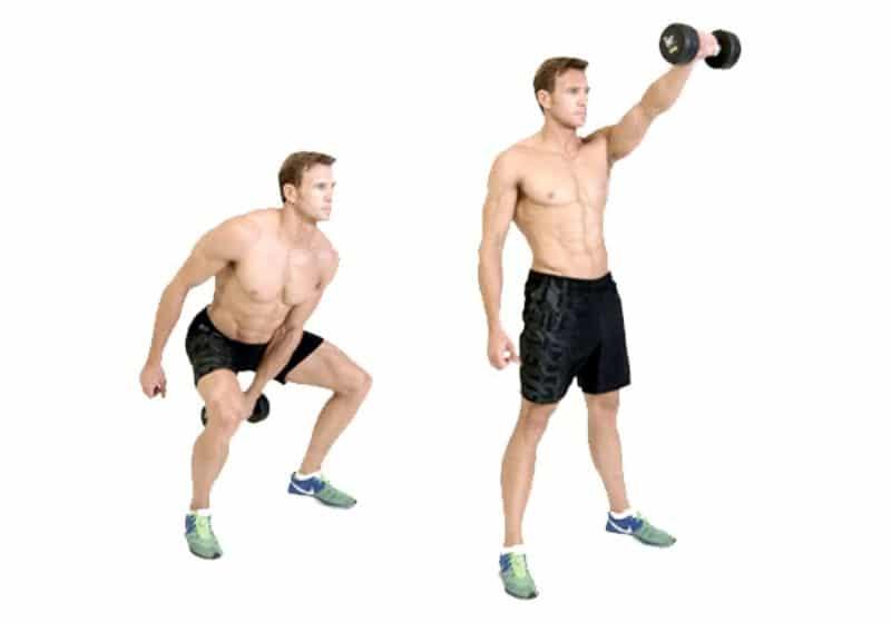 Bài tập One Arm Dumbbell Swing giúp cho cơ vùng đùi, mông, vai, bắp chân,... được phát triển tốt nhất