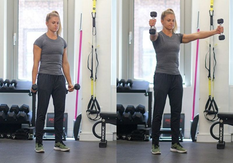 Nếu muốn cơ vai trở nên chắc khỏe và hoạt động ổn định thì bạn đừng bỏ qua bài tập Dumbbell Scaption