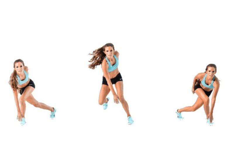 Bài tập Speed Skaters là bài tập hỗ trợ đắc lực cho quá trình giảm cân