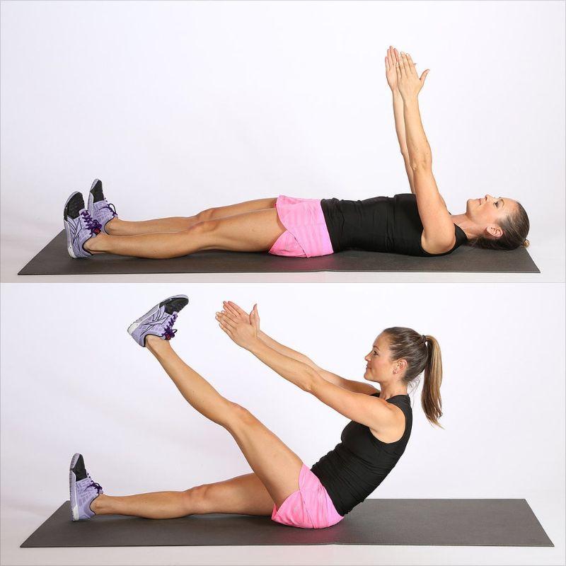 Bài tập gập bụng chạm mũi chân mang đến cho bạn vóc dáng hoàn hảo