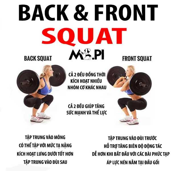 Front Squat và Back Squat
