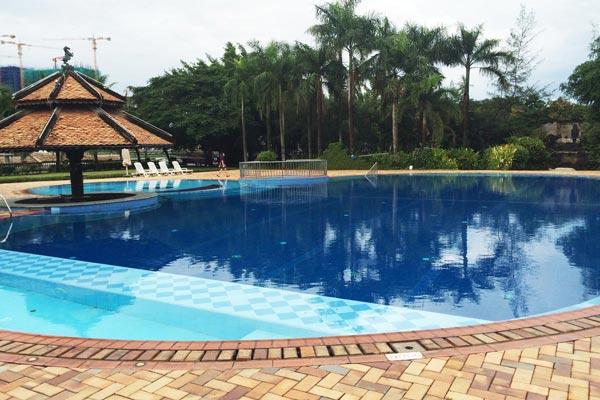 Bể bơi khu biệt thự Lan Anh